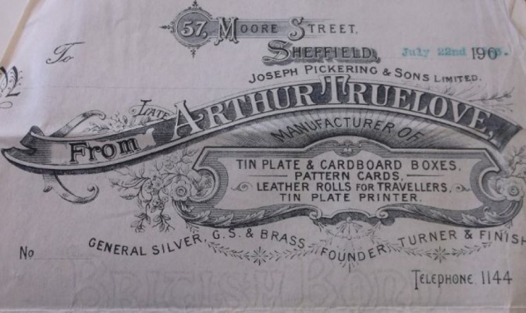 Letterhead (Arthur Truelove) Pickerings. 1900s | Photo: SALS MD7781
