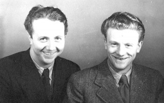 George Cunningham and his brother Herbert 'Billy' Cunningham. Unknown year | Photo: Pamela Jackson