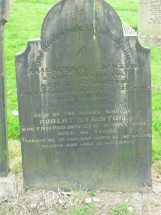 Rev. Robert Stainton & Elizabeth grave. Unknown year | Photo: Jenny Clark