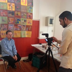 Malcolm Lisle being recorded by Sajid Ali. March 2014 | Photo: Our Broomhall