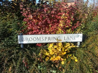 Street Sign for Broomspring Lane. 2013 | Photo: Our Broomhall