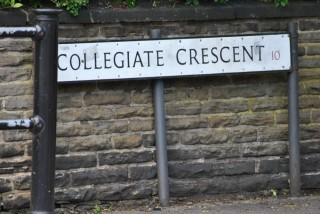 Street Sign for Collegiate Cresent. 2014 | Photo: Our Broomhall