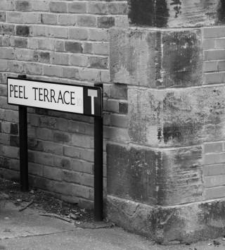 Street Sign for Peel Terrace. 2015 | Photo: Mark Sheridan