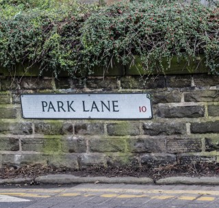 Street Sign for Park Lane. 2015 | Photo: Mark Sheridan