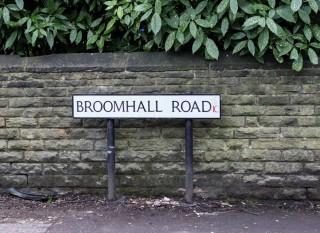 Street Sign for Broomhall Road. 2015 | Photo: Mark Sheridan