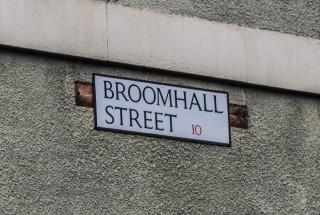 Street Sign for Broomhall Street. 2015 | Photo: Mark Sheridan