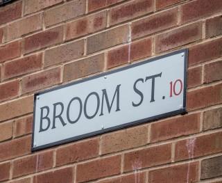 Street Sign for Broom Street. 2015 | Photo: Mark Sheridan