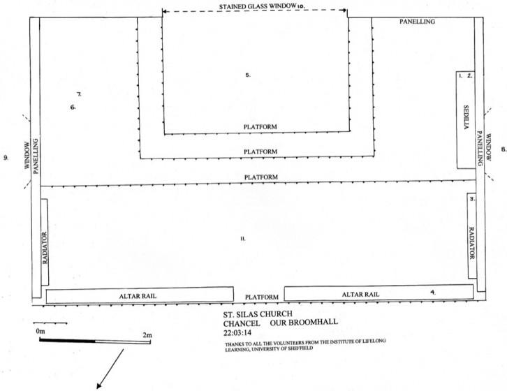 Chancel survey plan of St Silas Church. | Photo: Our Broomhall