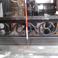 Altar Rail matching number 4 in the chancel survey plan. | Photo: Our Broomhall