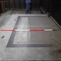 Platform matching number 5 in the chancel survey plan. | Photo: Our Broomhall