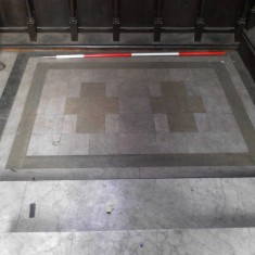 Platform matching number 6 in the chancel survey plan. | Photo: Our Broomhall