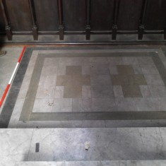 Platform matching number 7 in the chancel survey plan. | Photo : Our Broomhall