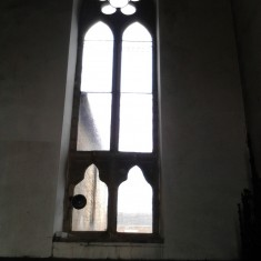 Window matching number 9 in the chancel survey plan. | Photo: Our Broomhall