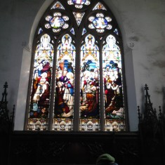 Stained glass window matching number 10 in the chancel survey plan. | Photo: Our Broomhall