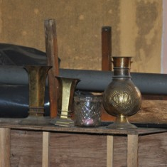 St Silas Building Recording day - Abandoned brass objects. April 2014 | Photo: Our Broomhall