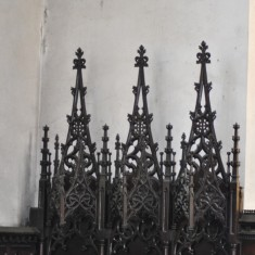 St Silas Building Recording day - Altar Screen carved by Arthur Hayball. April 2014 | Photo: Our Broomhall