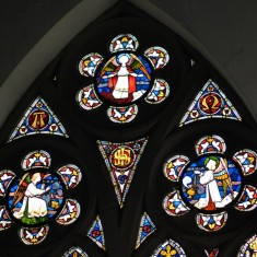 St Silas Building Recording day - Altar Window. April 2014 | Photo: Our Broomhall