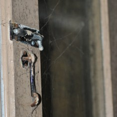 St Silas Building Recording day – bolt and hook. April 2014 | Photo: Our Broomhall