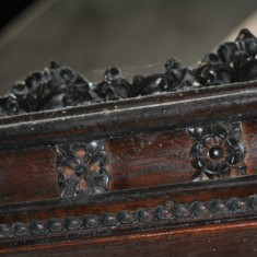 St Silas Building Recording day – choir stall carved by Arthur Hayball. April 2014 | Photo: Our Broomhall