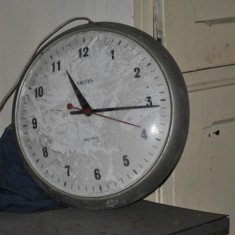 St Silas Building Recording day – clock. April 2014 | Photo: Our Broomhall