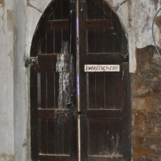 St Silas Building Recording day – door. April 2014 | Photo: Our Broomhall