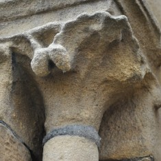 St Silas Building Recording day – eroded pillar. April 2014 | Photo: Our Broomhall