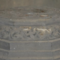St Silas Building Recording day – font base memorial window. April 2014 | Photo: Our Broomhall