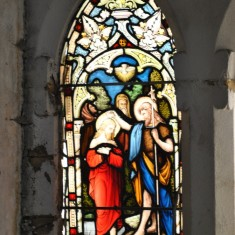 St Silas Building Recording day – memorial window. April 2014 | Photo: Our Broomhall