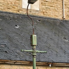 St Silas Building Recording day - streetlight. April 2014 | Photo: Our Broomhall