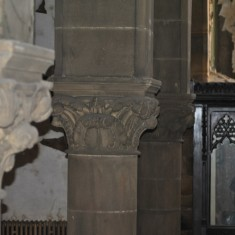 St Silas Building Recording day – pillar. April 2014 | Photo: Our Broomhall