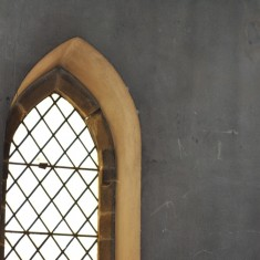 St Silas Building Recording day – plain glass window. April 2014 | Photo: Our Broomhall