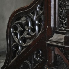 St Silas Building Recording day – pulpit. April 2014 | Photo: Our Broomhall