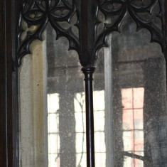St Silas Building Recording day - screen carved by Arthur Hayball. April 2014 | Photo: Our Broomhall