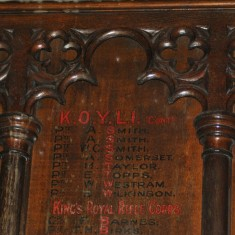St Silas Building Recording day – war memorial detail. April 2014 | Photo: Our Broomhall