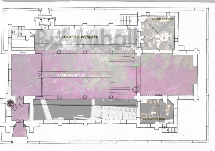 St Silas Architectural drawings. 2014 | Photo: Jessica Pallot