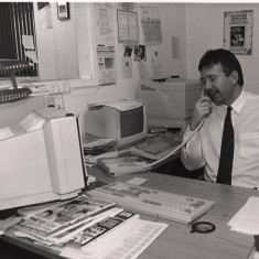 Employee in Broomhall. 1992 | Photo: Broomhall Centre