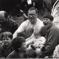Children and parents sitting at Broomhall event. 1992. | Photo: Broomhall Centre