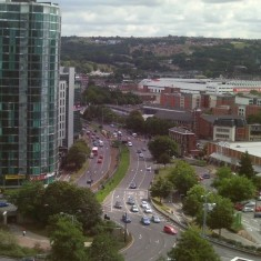 The ring road from Hanover Tower. 2014 | Photo: Our Broomhall