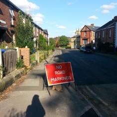 Road resurfacing on Clarke Street. Summer 2014 | Photo: Our Broomhall