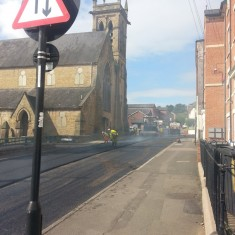 Road resurfacing on Broomhall Street. Summer 2014 | Photo: Our Broomhall