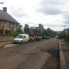 Road resurfacing on Broomspring Lane. Summer 2014 | Photo: Our Broomhall