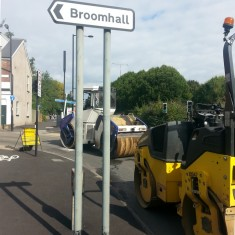 Road resurfacing near Hanover Way (ring road). Summer 2014 | Photo: Our Broomhall
