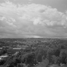 Ecclesall Road and Broomhall Park from the Hanover Flats roof. August 2014 | Photo: Jepoy Sotomayor