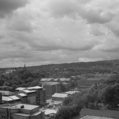 Ecclesall Road from the Hanover Flats roof. August 2014 | Photo: Jepoy Sotomayor