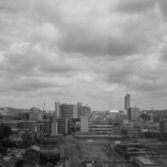 Sheffield city centre from the Hanover Flats roof. August 2014 | Photo: Jepoy Sotomayor