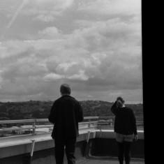 Mick Taylor and Gemma Clarke on the Hanover Flats roof. August 2014 | Photo: Jepoy Sotomayor