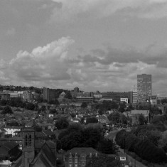 Broomhall from the Hanover Flats roof. St Silas Church (bottom). August 2014 | Photo: Jepoy Sotomayor