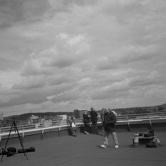 Various Our Broomhall volunteers on the Hanover Flats roof. August 2014 | Photo: Jepoy Sotomayor