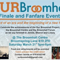Finale event flyer: March 21st 2015 | Photo: Our Broomhall