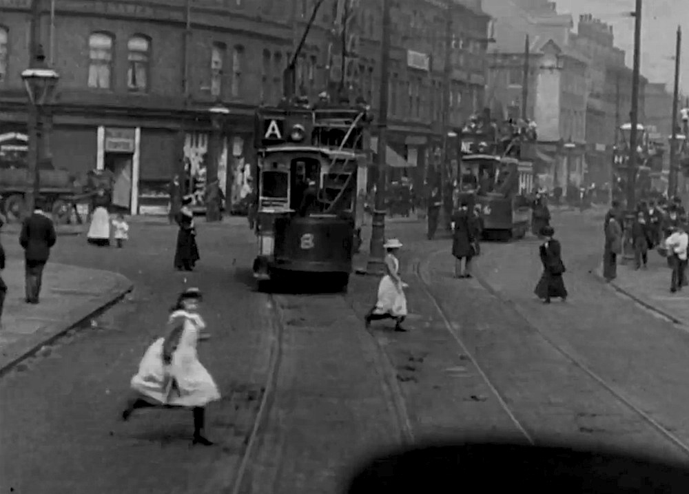 Film tram ride through the city of sheffield 1902 for The sheffield